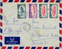 1974 , COSTA DE MARFIL, COTE D'IVOIRE , DAOUKRO - DORTMUND , SOBRE CIRCULADO , CORREO AÉREO - Costa De Marfil (1960-...)