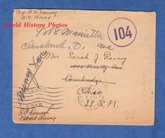 Enveloppe Ancienne Postée De PARIS (APO 702) Par Le Soldat Américain Walter B. RAINY 308th Engineers - Noël 1918 WW1 - Militaria