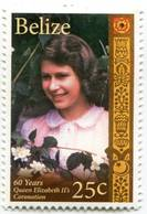 Lote Be14, Belize, 2013, Sello, Stamp, 4 V, 60 Years Queen Elizabeth II's Coronation - Belice (1973-...)