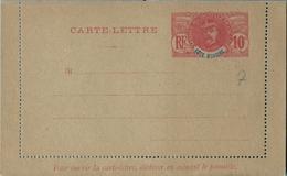 COSTA DE MARFIL , COTE D'IVOIRE , ENTERO POSTAL SIN CIRCULAR  , TIPO FAIDHERBE , 10 CTS. - Covers & Documents
