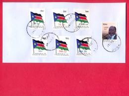 SOUTH SUDAN 2017 Cover With Full Set Surcharged Overprint Stamps On 1st Set  #361 Südsudan Soudan Du Sud - Zuid-Soedan