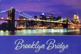 Panoramic View Of The Brooklyn Bridge And Lower Manhattan - New York - Formato Grande Viaggiata – E 9 - Cartoline