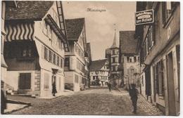 MENZINGEN Gasthof & Metzgerei Zum Adler Verlag L. Bürgi, Unterägeri - ZG Zoug