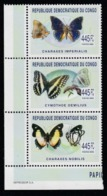 2011 Congo Fauna Farfalle Butterflies Schmetterlinge Papillons Set MNH** Pa120 - Congo - Brazzaville