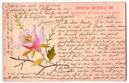 3665 - Exposition Universelle 1900 - Souvenir Du Village Suisse - ( Cp Brodée ) -n°20708 - B.& M. à Zurich - - Expositions