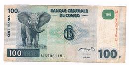 Billet  Banque Centrale Du Congo - 100 Francs - 4 01 2000 - Congo