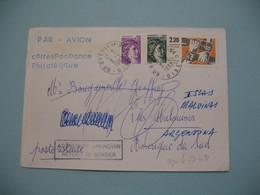 Lettre Philatélique En Poste Restante Pour Iles Malouines Argentine Amérique Du Sud 1982 ; Retour à L'Envoyeur Voir Scan - Marcophilie (Lettres)