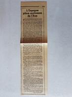 FRAGMENT JOURNAL 1939 : L'ESPAGNE PIECE MAITRESSE DE L'AXE Article De Pierre BROSSOLETTE - Documenti Storici