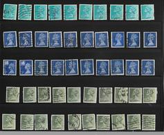 SELECTION  OF  50 PERFIN STAMPS  USED WITH  DIFFERENT  INITIALS. - Great Britain