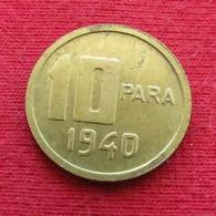 Turkey 10 Para 1940  Turquia Turquie Wºº - Turquie