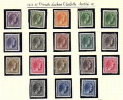 1926-28  Luxembourg,  Grande-duchesse Charlotte, 164 / 181**, Cote 50 € - 1926-39 Charlotte De Profil à Droite