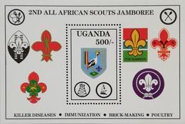 Uganda 1989 2nd. All African Scout Jamboree S/S - Oeganda (1962-...)