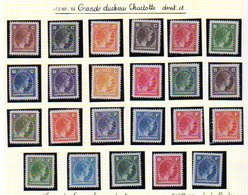 1944-46  Luxembourg,  Grande-duchesse Charlotte, 334 / 355**, Cote 22 €, - Luxembourg