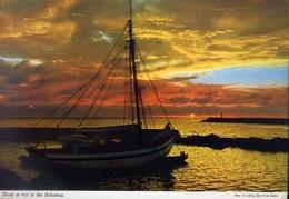 Sloop At Rest In The Bahamas - Formato Grande Viaggiata Mancante Di Affrancatura – E 9 - Cartoline