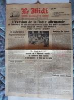 FRAGMENT JOURNAL MIDI SOCIALISTE 1939 EVASION FLOTTE ALLEMANDE ROOSEVELT BLUM V° MULHOUSE SARTROUVILLE PRESSE ALLEMANDE - Documenti Storici