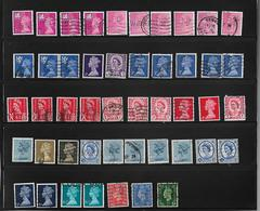 SELECTION  OF  47  PERFIN  STAMPS USED  WITH  DIFFERENT  INITIALS - Great Britain