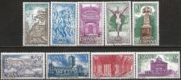 Spain 1971 Scott 1642-1662 MNH 9 Stamps Compostela - 1971-80 Neufs