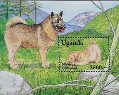 Uganda 1993 Dogs S/S - Uganda (1962-...)