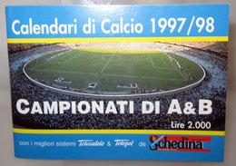 CALENDARI DI CALCIO SERIE A 1997-98 - Formato Piccolo : 1991-00
