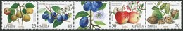 Serbia, 2017, Flora - Fruits, Strip, MNH, Mi# 737/40 - Serbie