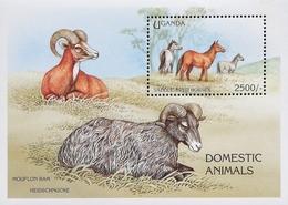Uganda 1995 Domestic Animals S/S - Uganda (1962-...)