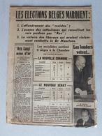 FRAGMENT JOURNAL 1939 : LES ELECTIONS BELGES - CATHOLIQUE REX LIBERAUX DR MAERTENS - MEIN KAMPF MINE D'OR DROITS FÜHRER - Documents Historiques