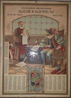 TOULOUSE - CALENDRIER DE1895 - IMPRIMERIES MERIDIONALE SALSE AINE M.SALZE-PETEL Succr 84-86 RUE RIQUET - TOULOUSE - Calendriers