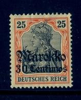 1911 , MARRUECOS ALEMÁN , YV. 49 * - Oficina: Marruecos