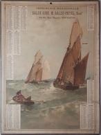 TOULOUSE - CALENDRIER DE1892 - IMPRIMERIES MERIDIONALE SALSE AINE M.SALZE-PETEL Succr 84-86 RUE RIQUET - TOULOUSE - Calendriers