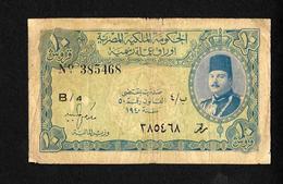 Egypte Egypt  10 Piastres 1940 King Farouk See Scan For CONDITION - Egypte