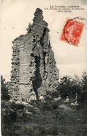 19. CPA. PEYROUX. Ruines Du Chateau De Peyroux, Près Liginiac, Promeneurs, Série La Corréze Illustrée. 1919. - France