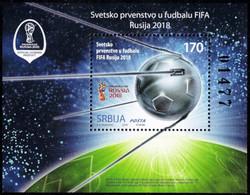 Serbia, 2018, Fifa World Cup - Russia 2018, Souvenir Sheet, MNH, Mi# - Serbie