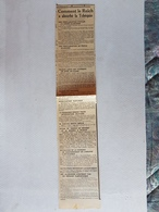 FRAGMENT JOURNAL 1939 COMMENT LE REICH A ABSORBE LA TCHEQUIE HITLER PRAGUE HACHA BERLIN UKRAINE CARPATHIQUE - Documents Historiques