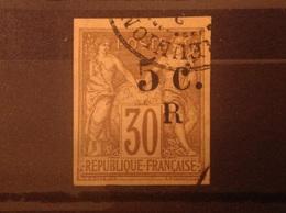 Reunion 1885-6 5c On 30c Used SG 7 Yv 7 Mi 6 - Réunion (1852-1975)