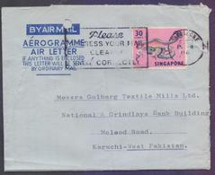 SINGAPORE Postal History, Aerogramme Used 15.3.1971 With Slogan Postmark - Singapore (1959-...)