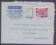 SINGAPORE Postal History, Aerogramme Used 20.11.1970 With Slogan Postmark - Singapore (1959-...)