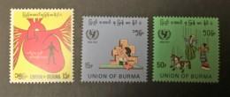 BURMA - MH* - 1972 - # 225/226, 231 - Myanmar (Birmanie 1948-...)
