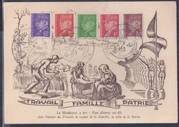 Carte Maximum Petain Journée Du Timbre 1943 Dijon - 1940-49