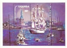 Uganda  1986 Statue Of Liberty ,Cent. S/S - Uganda (1962-...)