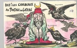 CPA - POLITIQUE SATIRIQUE - ORENS - LES CORBEAUX AU PARTAGE DU GATEAU - N°89 - NON ECRITE - SUPERBE - Sátiras