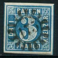 BAYERN QUADRATE Nr 2II GMR 175 Zentrisch Gestempelt X87E25A - Bavière