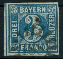 BAYERN QUADRATE Nr 2II GMR 188 Gestempelt X87E342 - Bavière