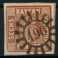 BAYERN QUADRATE Nr 4II GMR 190 Zentrisch Gestempelt X87E392 - Bayern