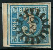 BAYERN QUADRATE Nr 2II GMR 189 Zentrisch Gestempelt Briefstück X87E3B2 - Bayern