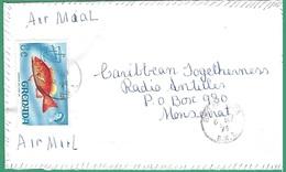 ! - Grenade (Grenada) - Enveloppe Avec 1 Timbre - Envoi Vers Monserrat - Grenade (1974-...)
