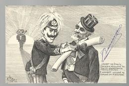 CPA - POLITIQUE SATIRIQUE - ORENS - LOUBET EN ITALIE - ORDRE DU MACARONI - TBE - Satiriques