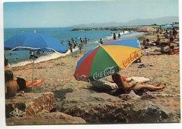 SAINTE-MARIE-la-MER  - La Plage  - Parasol Coca-Cola - Voir Scan - France