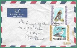 ! - Monserrat - Envoloppe Avec 2 Timbres - Envoi Vers Plymouth - - Montserrat