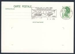 France Rep. Française 1989 Card Karte Carte - Cent. Gare De Souillac, 1889-1989 / Bahnhof / Railway Station - Treinen
