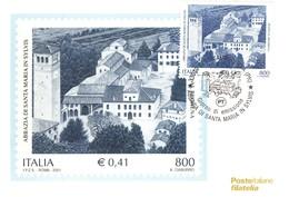 2001 ITALIA CARTOLINA POSTALE FDC SANTA MARIA IN SYLVIS. - F.D.C.